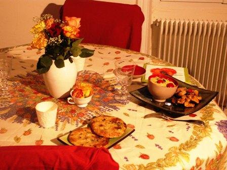 Diner romantique ambiance exotique la maison de patoo for Diner romantique a la maison